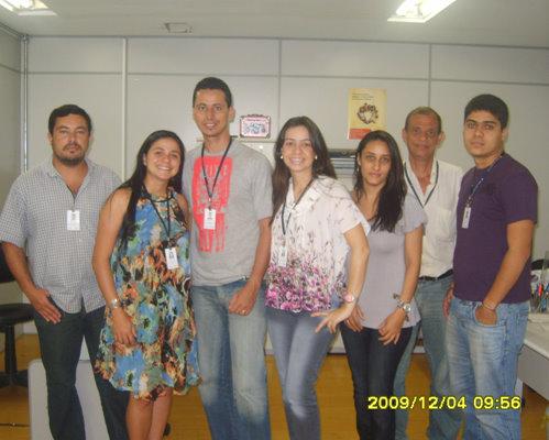 A equipe do CESOL comemora o sucesso dos empreendedores de Vitória da Conquista