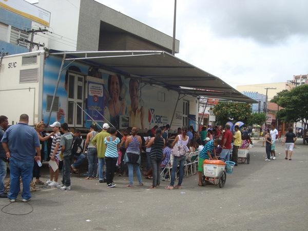 O SAC Móvel está na Praça Barão do Rio Branco